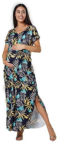 HAPPY MAMA Frauen Umstandskleid mit...