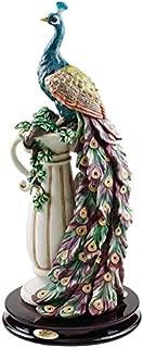 Design Toscano Peacock's Sanctuary Home Decor Statue, 17 Inch, Full Color