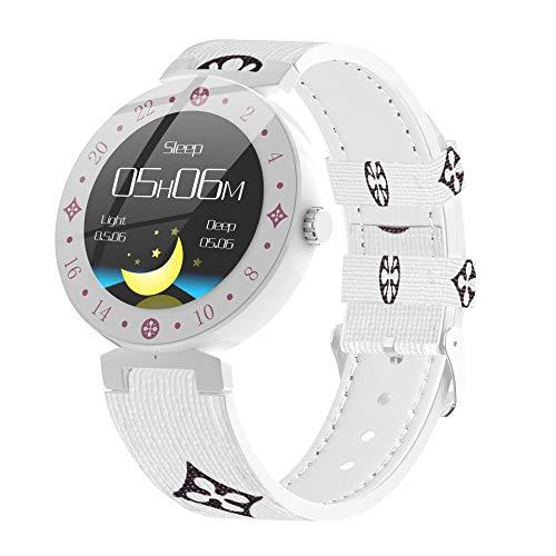 GBY Smartwatch, riemarmband, hartslag-bloeddrukarmband, dynamische bewaking van gezondheidsinformatie, stijlvolle gepersonaliseerde armband, geschikt voor mannen en vrouwen, kan voor de, size, wit