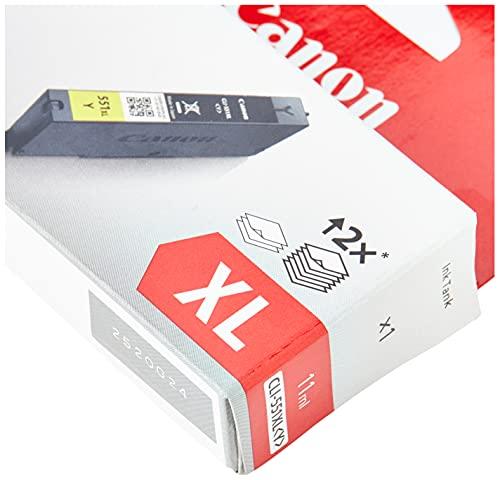 Canon CLI-551XL Y Cartucho de tinta original Amarillo XL para Impresora de Inyeccion de tinta Pixma iP7250-iP8750-iX6850-MG5450-MG5550-MG5650-MG6350-MG6450-MG6650-MG7150-MG7550-MX725-MX925