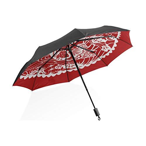 Wende-Regenschirm für Kinder Mandarin Duck V Schwimmen in einem Teich Tragbarer kompakter Klappschirm Anti-UV-Schutz Winddicht Outdoor Travel Women Totes Umbrella