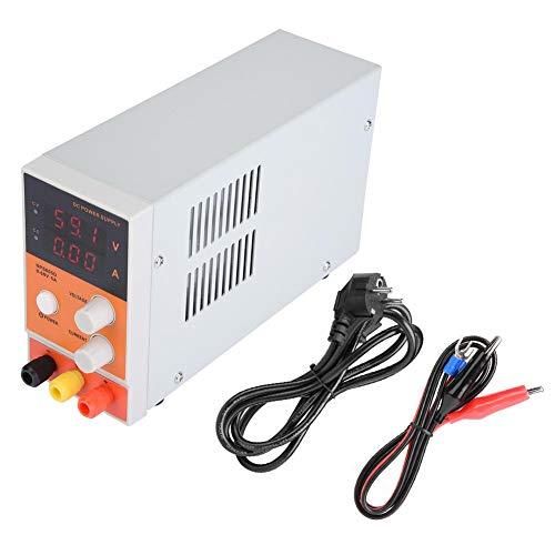 Gereglementeerde DC-voeding, Akozon NPS605D Hoge precisie instelbare laboratorium DC-gereguleerde voeding 60V 5A Gegevensvast houden over temperatuur- en overbelastingsbeveiliging(EU)