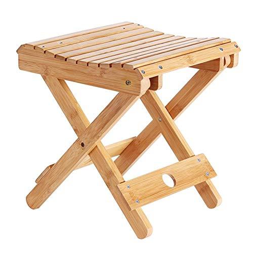 QIDI Tabourets de Chaise Bambou Moderne simplicité Pliable Facile à Transporter ménage pêche en Plein air - Couleur du Bois - Plusieurs Styles Disponibles (Taille : H:29CM)