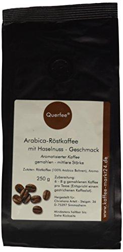 Querfee Kaffee mit Geschmack - Haselnuss - Arabica Röstkaffee - gemahlen - 250 g, 1er Pack (1 x 250 g)