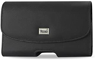OEM REIKO Premium Leather Carrying Side Case Pouch Holster Clip with 2