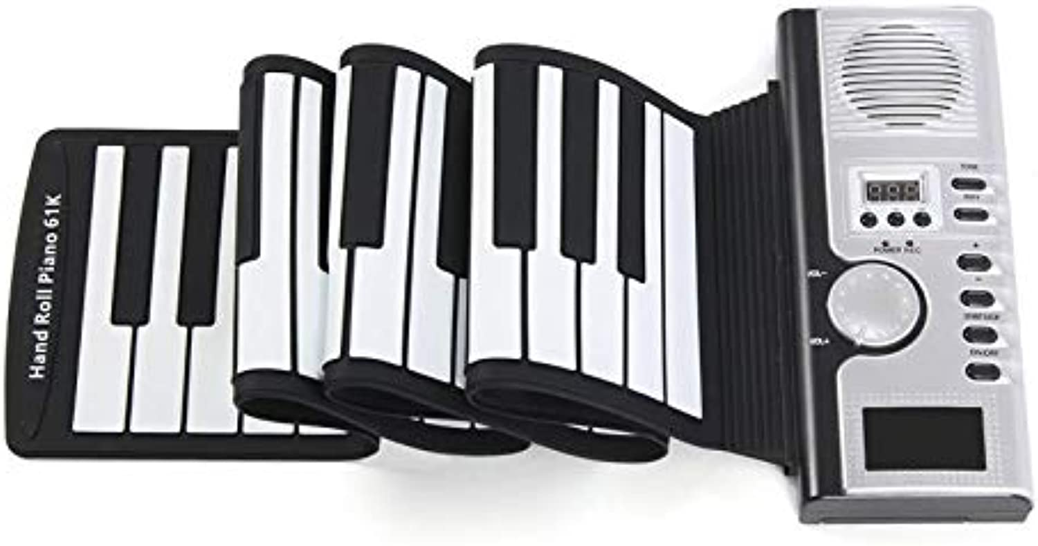 61 Keys Roll Roll Roll Up Digital Electronic Keyboard Piano