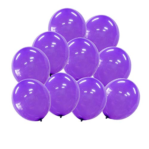 100 Pcs Happy birthday balloons Inflatable Purple Latex Balloons Birthday Balloons Anniversary Balloons Wedding Balloons Wedding Decoration Anniversary Decoration Party