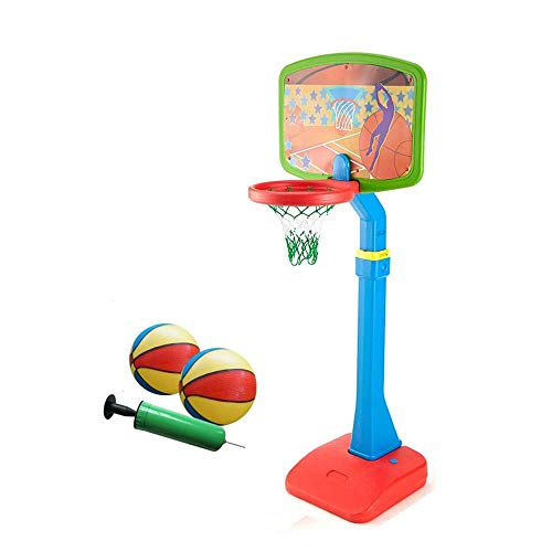 SUON-lanqiu Kinder Verstellbar Tragbar Basketball-Set Verstellbare Höhe 112,5-172,5 cm Mit Ball & Net Basketballständer Für Kinder Junioren Indoor Outdoor Spielen Basketballkorb (Color : C)