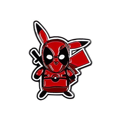 Cartoon-Detektiv-Deadpool-Hemd-Brosche, Emaille, Anstecknadeln, Metallbroschen für Männer und Frauen, Anstecknadeln, Broschen-Zubehör