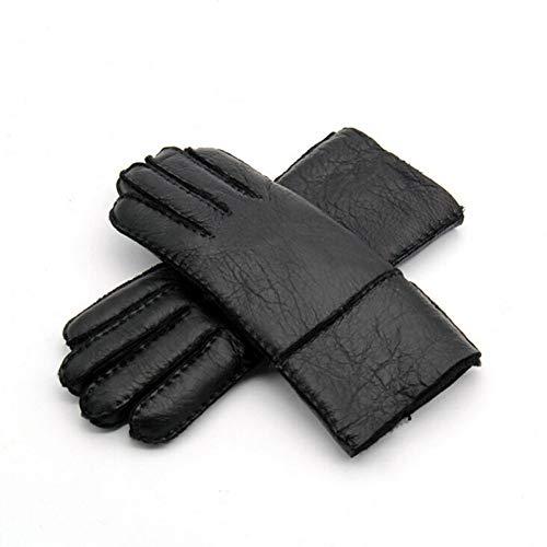 Fnito Handschuhe Super warme Winter-warme Lederhandschuhe für Frauen lederne manuelle Handschuhe Frau, die warme Handschuhe reitet