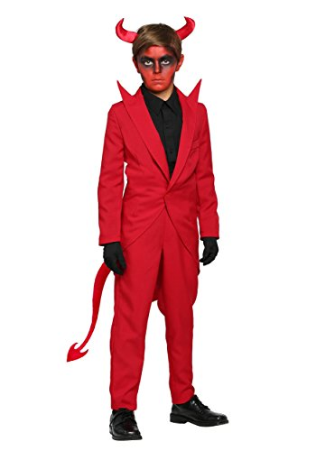 Red Suit Devil Costume for Kids Boy's Devil Costume Large (12-14)