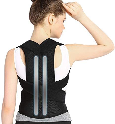 Haltungskorrektur Doact Rücken Geradehalter zur Haltungskorrektur für Herren Damen, Haltungstrainer Rückenstütze mit 2 Abnehmbar Schienen und 2 polster zur Schmerzlinderung von Nacken Rücken Schulter
