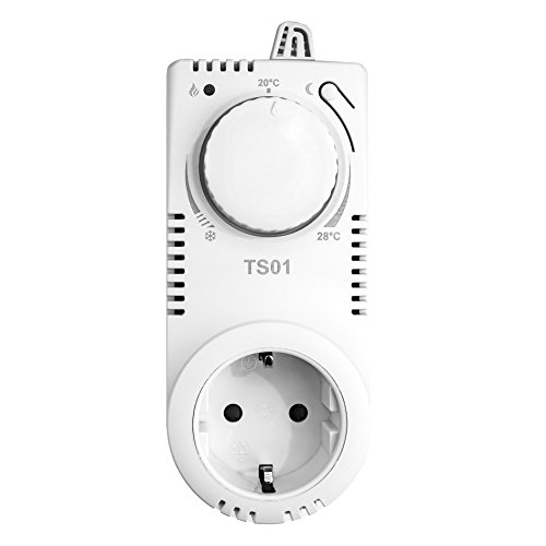 Preisvergleich Produktbild TS01 Steckdosen-Thermostat Thermo-Schaltsteckdose Nachtabsenkung Raumthermostat