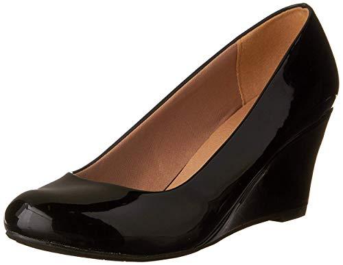 Forever Doris-22 Wedges Pumps-Shoes mve Shoes Doris 22 Black pat Size 6
