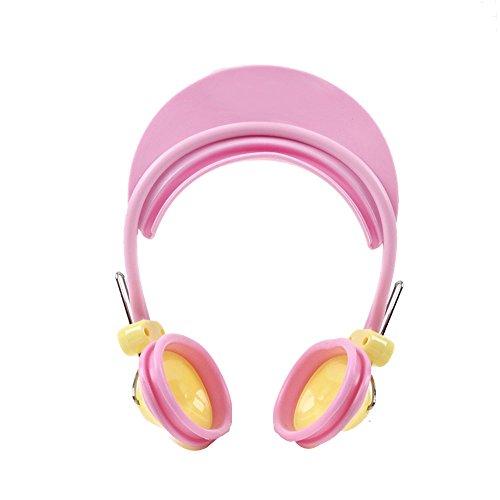 Casque de protection pour enfant Shampooing Baden Protection pour oreilles et yeux Réglable Chapeau de bébé à partir de 3 mois (Rosa) Homeproduct [Baby Product]