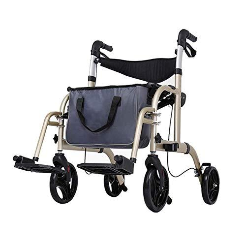Z-SEAT Premium Rollator Walker mit umklappbarem Sitz, bequemen Griffen und klappbarem Walker mit Dicker Rückenlehne für Senioren
