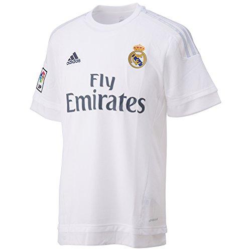 Adidas Real H Jsy Real Madrid 2015-2016 Maglia da Uomo, Bianco/Argento (Bianco/Gricla), XL