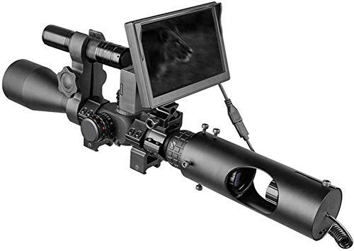 Cámara de Caza Visor Nocturno Mira telescópica Caza Óptica Mira táctica 850nm Infrarrojo LED IR Dispositivo de visión Nocturna a Prueba de Agua