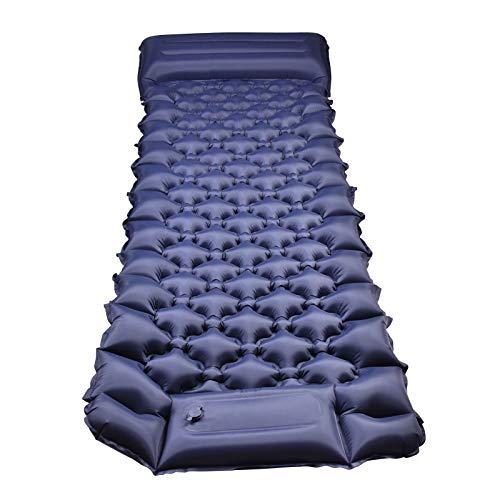 Almohadilla para dormir autoinflable para acampar Almohadillas para dormir portátiles impermeables para acampar Material de nailon 40D Almohadilla para dormir para mochileros al aire libre ultraligera