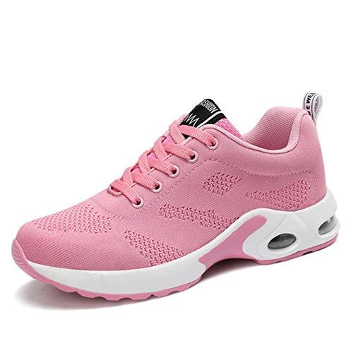 Zapatos Deportivos para Mujer, cojín de Aire Antideslizante, Zapatos Casuales cómodos Antideslizantes, Zapatillas de Deporte de Malla Transpirables a la Moda