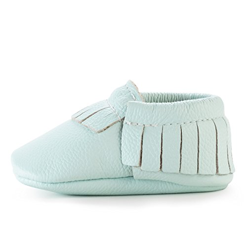 BirdRock Baby Moccasins - 30+ Styles for Boys & Girls! Every Pair Feeds a Child (US 6.5, Seafoam Green)