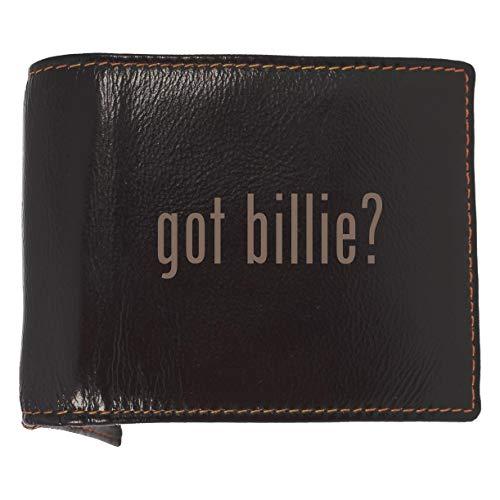 got billie? - Soft Cowhide Genuine Engraved Bifold Leather Wallet