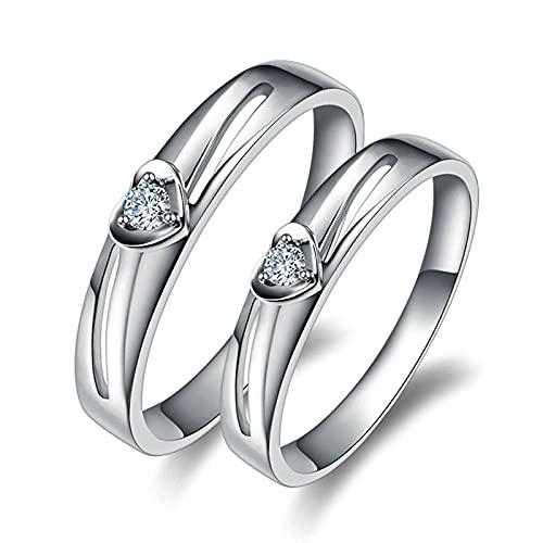 KnSam Mujer Hombre Unisex 18K oro blanco redonda Diamond