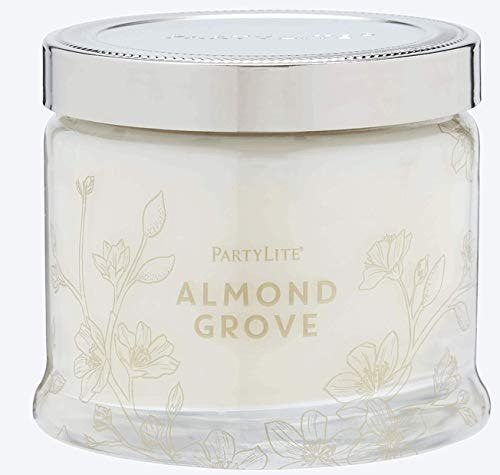 PartyLite 3 Wick Candle Jar, Almond Tree