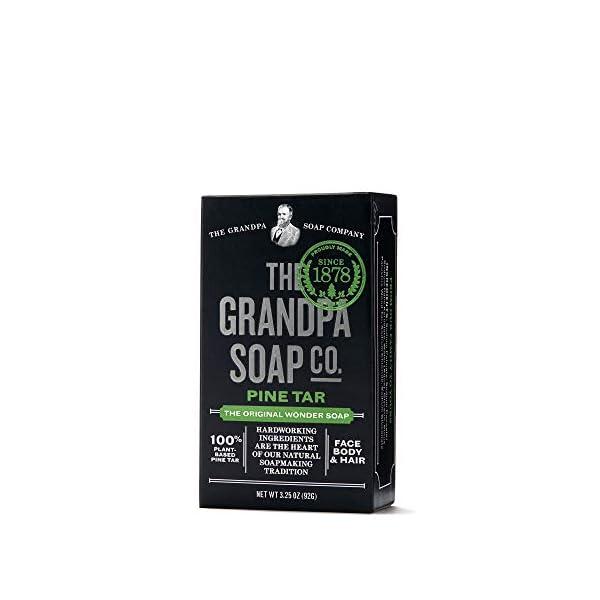 Pine Tar Bar Soap by The Grandpa Soap Company | The Original Wonder Soap |Vegan, 3-in-1 Cleanser, Deodorizer… 1
