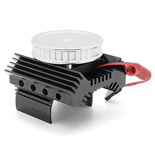 F-MINGNIAN-TOOL, 1pc Couvercle du Moteur dissipateur de Chaleur 36mm 540/550 Radiateur Moteur W/Ventilateur de Refroidissement for TRX-4 CX10II RC Voiture Pièces de Mise à Niveau