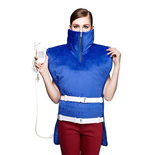 XASY Elektrisch verwarmingskussen, voor rug nek, schouder, taille, cape, multifunctionele slangsjaal verwarmd, infraroodverwarming verwarmbare sjaal, vest warmhoudplaat met