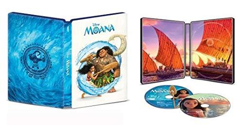 Disney's Moana 4K Limited Edition Collectible Steelbook; 4K + Blu Ray + Digital