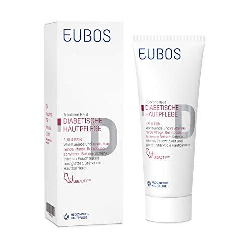 Eubos | DIABETISCHE HAUT PFLEGE Fuß & Bein | 100ml | für trockene und empfindliche Haut | ohne Mineralöl | Multiv-Activ Formel