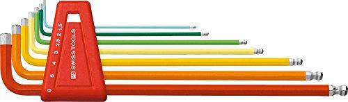 PB Swiss Tools PB 212lh-6RB sphérique de clés mâles longues Rainbow
