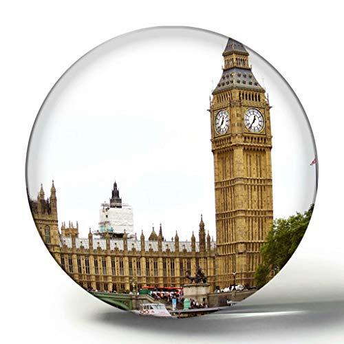 Großbritannien England London Houses of Parliament 3D Kühlschrank Magnet Souvenir Collection Reisegeschenk Kreis Kristall Kühlschrank Magnete