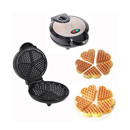 Waffle Maker, gaufrier en acier inoxydable chauffage maison gaufre machine, antiadhésifs, cordon-stockage, facile à utiliser et à nettoyer, Premium en acier inoxydable WTZ012