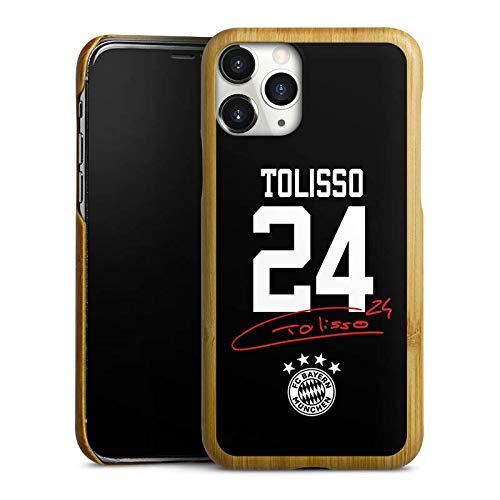 DeinDesign Holz Hülle kompatibel mit Apple iPhone 11 Pro Holz Schutzhülle Echtholz Handyhülle Tolisso #24 FC Bayern München Trikot