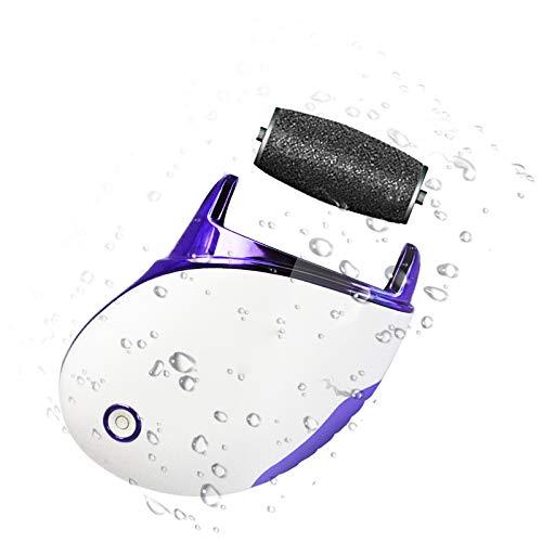 Pieds pour enlever la peau dure, lime à pieds quatre en un peeling et peeling meuleuse de pieds électrique USB charge manucure pédicure multifonction (Blanc)