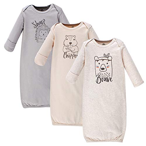 Yoga Sprout Unisex Baby Cotton Gowns, Wild Woodland, Preemie