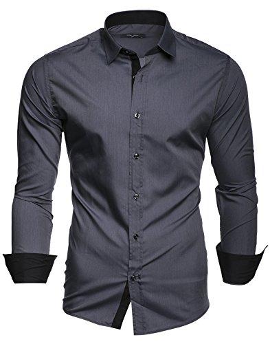 Kayhan Herren Hemd, TwoFace Grau M