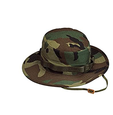 Rothco Rip Stop Boonie Hat, Woodland Camo, Size 7.75