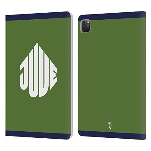 Head Case Designs Licenciado Oficialmente Juventus Football Club Verde Insignia de Calle Carcasa de Cuero Tipo Libro Compatible con Apple iPad Pro 11 (2020/2021)