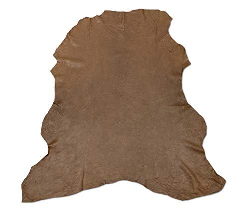 Zerimar Piel Cuero | Pieles Cuero Cordero Natural | Retales de Piel para Manualidades | Piel para Artesanos | Retal Cuero | Retales de Cuero | Color: cuero | Medidas: 90x90 cm.