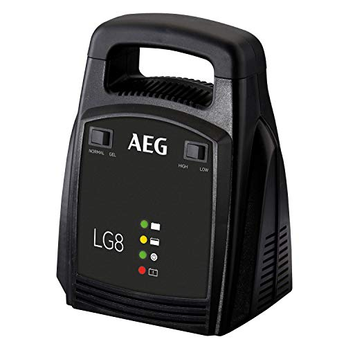 AEG Automotive 10273 Auto Batterie Ladegerät LG 8, 12 Volt/8 Ampere, mit LED Anzeige, schutzisolierte Batterieklemmen