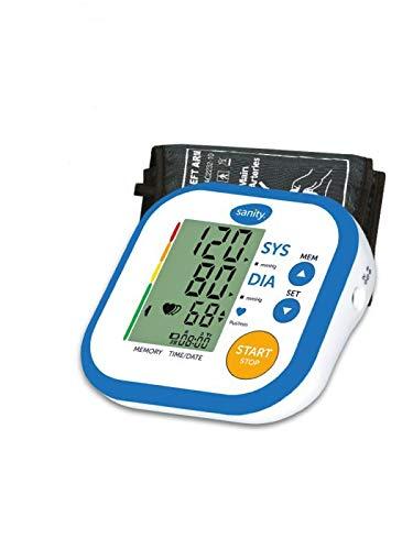 Sanity - Blutdruckmessgerät Simple - schnelle & präzise Blutdruckmessung - Einfache Bedienung - gratis Etui für das komplette Zubehör