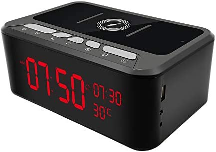 WiFi Camera Bluetooth Speaker with Wireless Charging Function Temperature Display Clock HD1080P product image