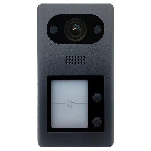 X-SECURITY Videoportero IP - Cámara 2Mpx Gran Angular - Audio bidireccional   Doble botonera - Monitorización a través de App móvil - Acero Inoxidable antivandálico - Montaje en Superficie