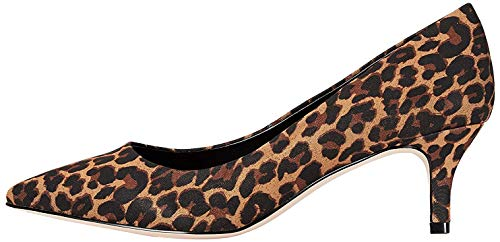 Amazon-Marke: FIND Kitten Heel Court Pumps, Beige (Leopard), 38 EU