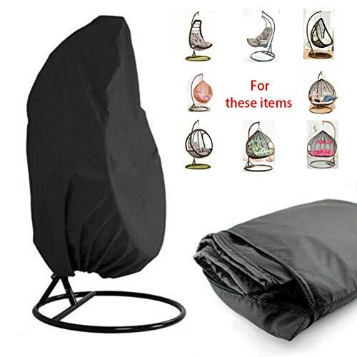 WN-PZF Patio Hängesessel Cover, Cocoon Egg Chair Abdeckung Für Rattan Wicker-Schaukelsitz Stuhl wasserdichte Schutzhülle Möbel,420d,45