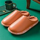SKREOJF Zapatillas de algodón de PU para invierno de mujer,...